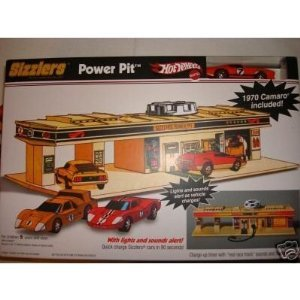 【Hot Wheels Sizzlers Power Pit with Lights and Sounds Alert w/1970 Camaro】     b00124f076