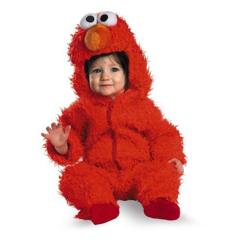 【Elmo Plush Deluxe Infant Costume エルモぬいぐるみデラックス幼児コスチューム サイズ:Infant (12-18 months)】     b001agc7hm