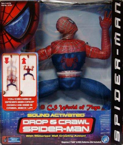 【Spider-man - 12 Motorized Sound Activated - Drop & Crawl Spider-man Figure】     b00183lnyk