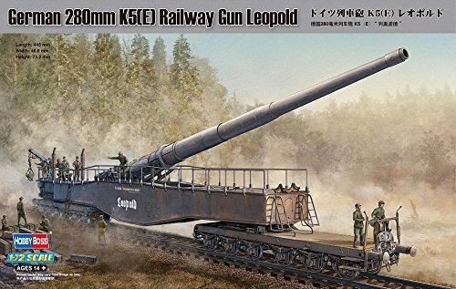 【ホビーボス 1/72 ファイティングヴィークルシリーズ ドイツ列車砲 280mm K5 E レオポルド】     b001a5jlli