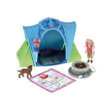 【[フィッシャープライス]Fisher-Price Fisher Price Loving Family Camping Tent Playset with 4 Inch Tall Sister Doll  Pet Dog  Blue Tent  [並行輸入品]】     b001toms9c