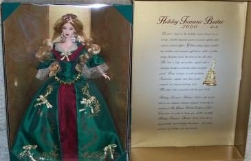 【2000 HOLIDAY TREASURES COLLECTOR CLUB BARBIE by Mattel】