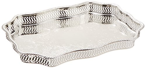 【SERPENTINE GALLERY TRAY - SILVER PLATED SERPENTINE GALLERY TRAY by Leeber Limited USA】