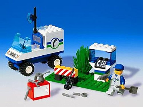 【LEGO System Telephone Repair  43 Pieces  6422  Retired Set from 1998 System Town  Town Jr.】     b001v391sw