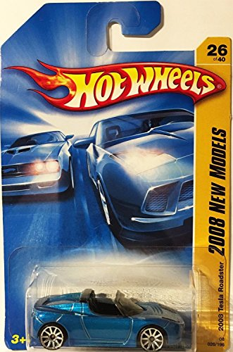 【Hot Wheels 2008-026 New Models Tesla Roadster BLUE 1:64 Scale】