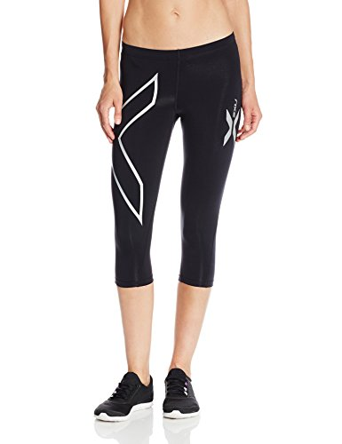 【送料無料】【(ツータイムズユー)2XU Women's Thermal 3/4 Compression Tights WA1945b  BLACK/BLACK M】     b005a0qcu2