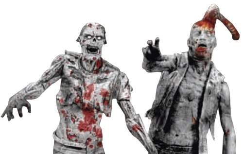 【McFarlane Toys The Walking Dead Action Figures: Comic Book Series 1: Black & White Zombies 2-Pack】     b004y1tjrq