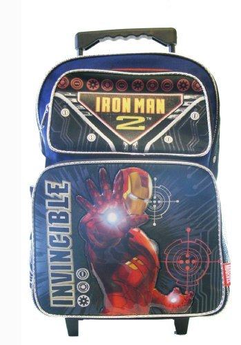 【Large Rolling Backpack - Marvel - Iron Man - Wheeld School Bag Comic New 500061】     b004rjfm8u