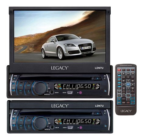 【Legacy LDN7U 7 in. Motorized Detachable Touch Screen TFT-LCD Monitor with DVD-CD-MP3-AM-FM Player】     b004m8yrvy