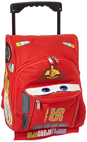 【Large Rolling Backpack - Disney - Cars - Lightning McQueen Bag New 603694-2】     b0062qfo8e