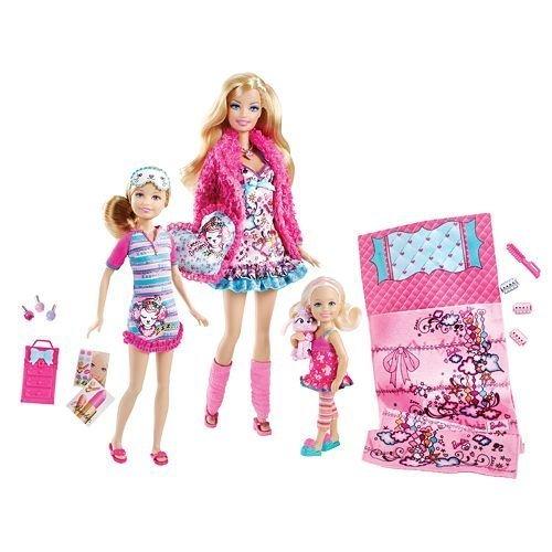【バービーBarbie Sisters Slumber Party Set by Mattel 輸入品 X1515】     b005kb5mha