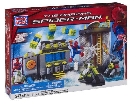 【Mega Bloks Spiderman 4 Sewer Lab HQ】     b005vq7902