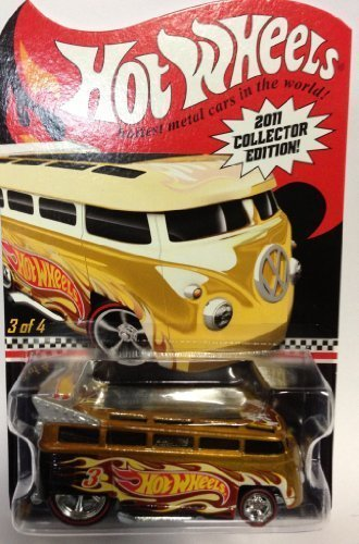 【2011 Hot Wheels Collector Edition Mail-in Promo Volkswagen T1 Drag Bus Gold #3/4】     b006pz70aw