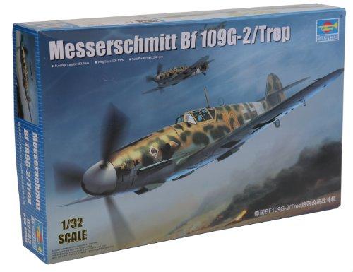 【トランペッター 1/32 ドイツ軍 メッサーシュミット Bf109G-2/Trop】     b00cs3ndu6