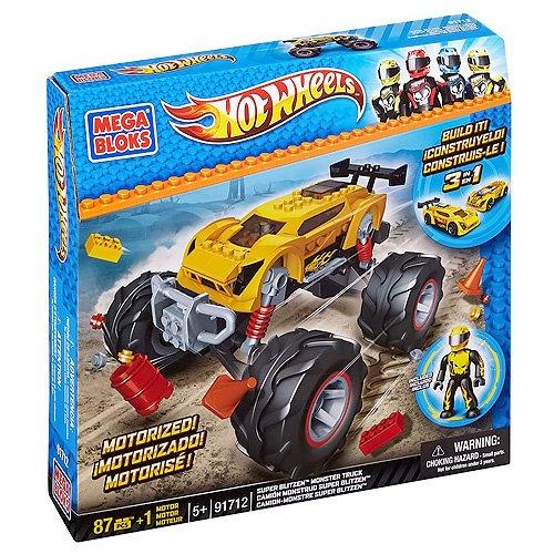 【Mega Bloks Hotwheels Super Blitzen Monster Truck (Yellow)】     b00bgt5slu