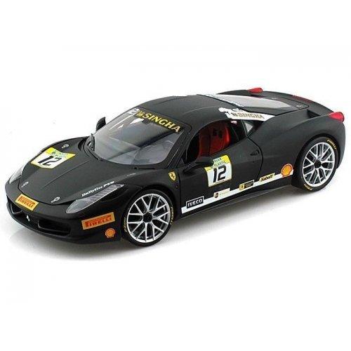 【MATTEL 1/18 フェラーリ 458 イタリア チャレンジ マットブラック】     b00hw5inrs