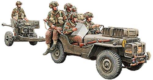 【ブロンコモデル 1/35 英1/4ton空挺用小型兵員車&6ポンド砲空挺型+降下兵6体】     b00hl84myy