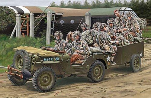 【ブロンコモデル 1/35 英1/4ton空挺用小型兵員車&トレーラー+英降下兵8体】     b00gokrhga