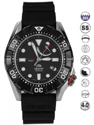 【Orient # sel03004bメンズm-force Air Diver Power Reserve Automatic Watch】     b00hgj2rhw