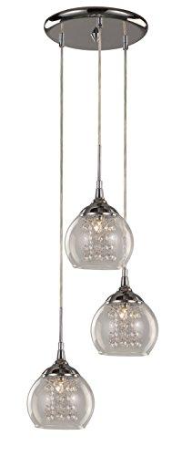 【Trans Globe Lighting Glass and Crystal 3 Drop Pendant Light by Trans Globe Lighting】     b00jqrbmz0