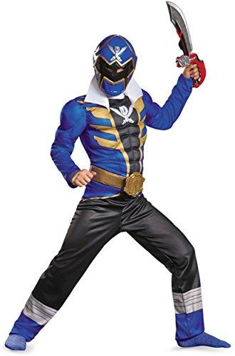 【ブルーパワーレンジャースーパーメガフォース筋肉の男の子の衣装】     b00ilyhue6