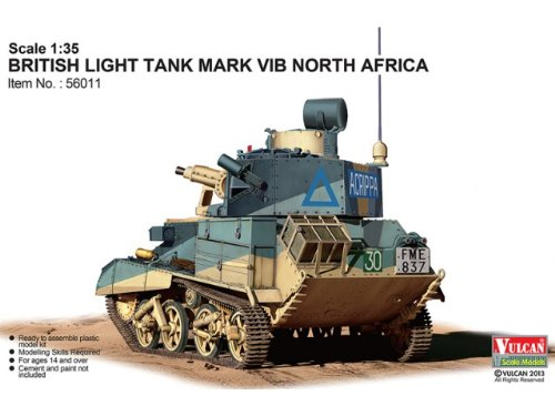 【バルカンスケールモデルズ 【56011】 1/35 WWII 英 Mk.VI B 軽戦車 北アフリカ仕様】     b00i97he1y