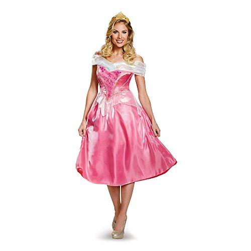 【送料無料】【Disney Princess Aurora Deluxe Adult Costume ディズニーオーロラ姫デラックス大人用コスチューム♪ハロウィン♪サイズ:Medium (8-10)】     b00um26h5i
