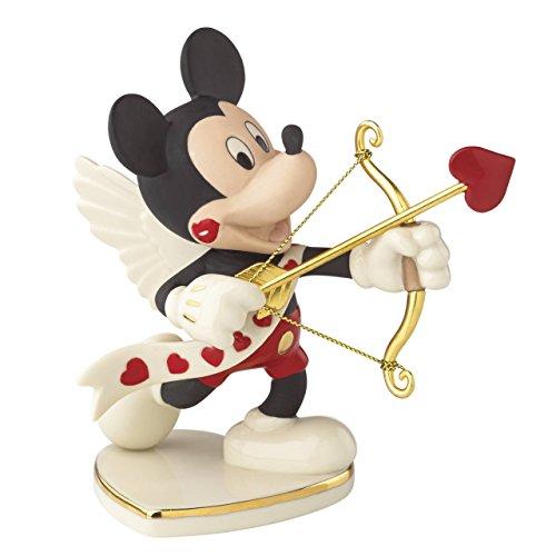 【ディズニー フィギュア レノックス LENOX社 白磁(陶器)製 『ミッキーズ バレンタイン フォーユー』 ミッキーマウス】     b00t4u72qm