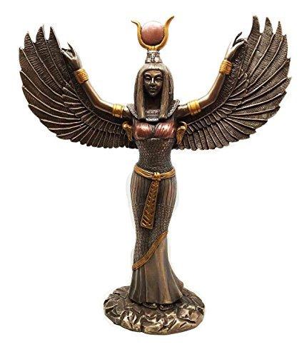 【羽を広げた 古代エジプト女神 イシス彫像 彫刻 高さ30cm/ Egyptian Theme Isis With Open Wings Goddess of Magic and Nature Bronzed Statue Sculpture[並行輸入品】     b00ub4v5yk