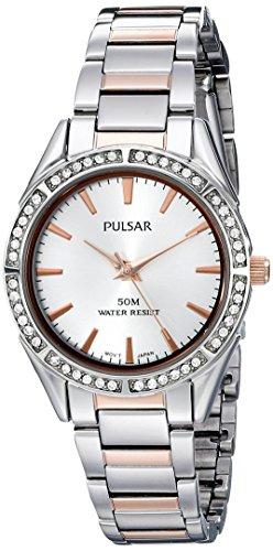 【Pulsar Women 's ph8129?XアナログDisplayアナログクオーツTwo Tone Watch】     b00rzc70nq