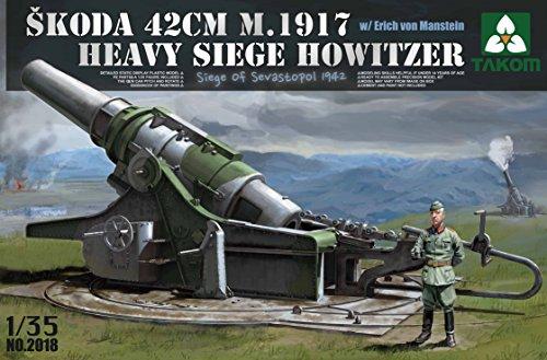 【TAKOM 1/35 シュコーダ 42cm M.1917 重攻城用臼砲 エーリッヒ・フォン・マンシュタイン フィギュア付き】     b00u5jxo90