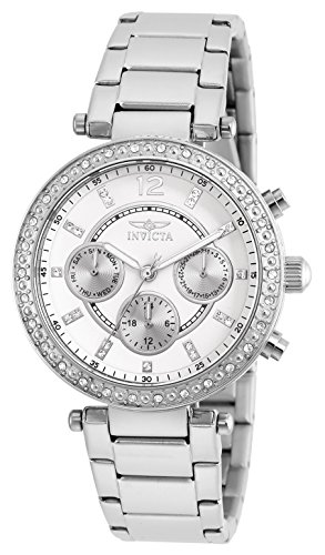 【Invicta Women's 21386 Angel Stainless Steel Crystal-Accented Bracelet Watch】     b011n5pc6w