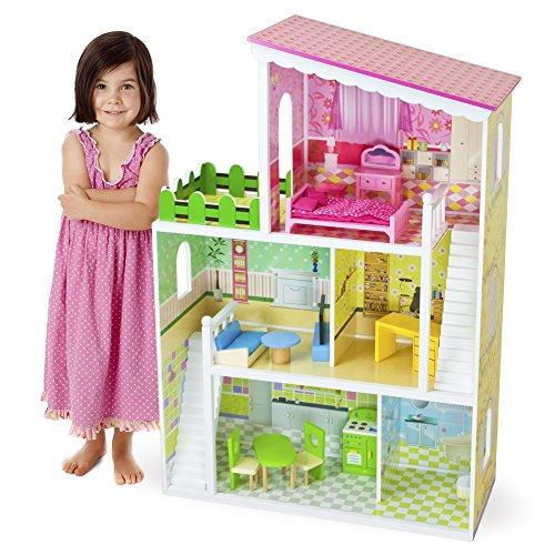 【送料無料】【[イマジネーションジェネレーション]Imagination Generation Wooden Wonders Living Large! Modern Dollhouse with 18 Pieces of Furniture [並行輸入品]】     b016le4ynm