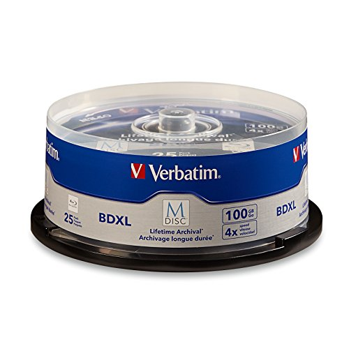 【送料無料】【Verbatim M-Disc - 25 x BD-R XL - 100 GB 4x - spindle】     b017h13dfs