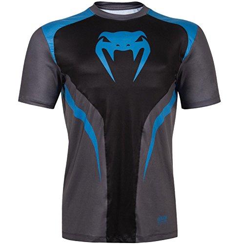 【VENUM[ヴェヌム] Tシャツ Predator Dry Tech プレデター ドライテックTシャツ (黒/シアン) (L)】     b01cs93w82