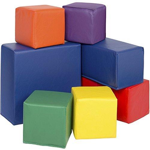 【送料無料】【Best Choice ProductsソフトBig Foam Blocksプレイセット( 7?Piece )】     b01bxa8exk