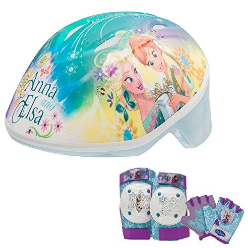 【Disney Frozen Toddler Skate / Bike Helmet  Pads   Gloves - 7 Piece Set by Disney】     b01f7u8j7s