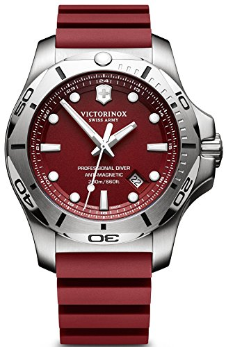 【Victorinox Swiss Army i.n.o.x. Professional Diver 241736.1?Red / Red Rubberアナログクオーツメンズ腕時計】     b01g5p4q1m