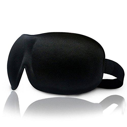 【HomeyCozy 3dアイマスクSleepingカバー目隠しライトBlocking不眠症Aid カラー: ブラック】     b01m67vedj