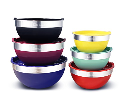 【送料無料】【Elite Gourmet EBS-0012 Maxi-Matic 12-Piece Mixing Bowl Set  Multicolor by Elite Gourmet Digital Bread Maker】     b01h5fq5ga