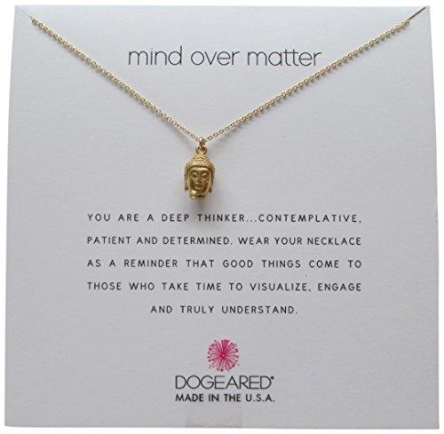 【送料無料】【Dogeared Gold Dipped Mind Over Matter Buddha Head 16?  Boxedネックレス】     b01k1rpn44