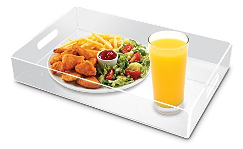 【KOVOT Acrylic Serving Tray With Handles 16 x 10 - Ideal For Serving Breakfast  Tea  Or Coffee by Kovot】     b01lqwoe2a