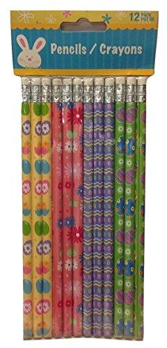 【( 24?) 2個パックイースターテーマpencils-イースター印刷Decorated pencils- 2パック( 12?ct各)】     b01mg6eo82