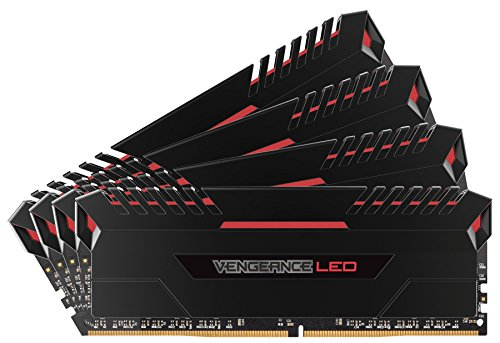 【送料無料】【CORSAIR Vengeance Red LED DDR4 2666Mhz 64GB (16GBx4) 288pin UDIMM MM3201 CMU64GX4M4A2666C16R】     b01lyelpgo