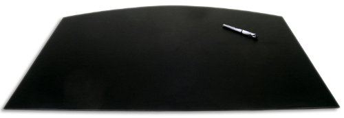 【Dacasso Black Arched Desk Pad 34 by 24 Inch】