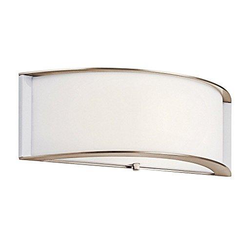 【Kichler 10630pnled、壁取り付け用燭台、1lt LED、ポリッシュニッケル】     b01n7moari