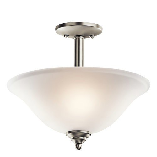 【Kichler Lighting 3694NIW Armida 2-Light Convertible Fixture Brushed Nickel Finish with Satin Etched Glass by Kichler】     b006qei9m0