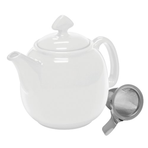 【Chantal Tea for 4 Teapot with Stainless Steel Infuser、1   1 / 2-quart ホワイト 608724-92-TP13/SLI WT】     b00db4ssce