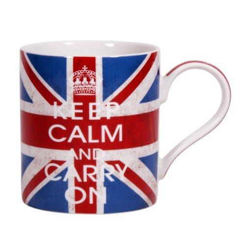 【Home EssentialsホームEssentials Keep Calm Mug And Carry On Jac、、レッド、ホワイト、ブルー】     b00g8sgocg