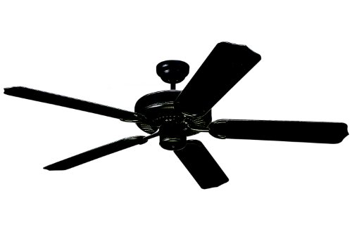 【Monte Carlo 5WF52BK Weatherford 52-Inch 5-Blade Outdoor Ceiling Fan with Matte Black ABS Blades Matte Black - Powder Coated by Monte Carlo [並行輸入品]】     b001cafyk8